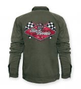 Vintage-Worker-Jacket Oliv green - Racing Team
