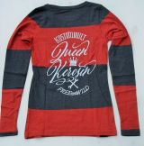 Striped-Longsleeve from Queen Kerosin - Free and Wild