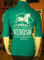 Batik Vintage Poloshirt von Queen Kerosin - Bakersfield grün