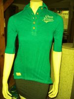 Batik Vintage Poloshirt von Queen Kerosin - Born for Speed grün