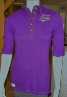 Batik Vintage Poloshirt von Queen Kerosin - Born for Speed lila