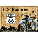 Blechpostkarte - Route 66 Map
