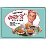Blechpostkarte - Kellog`s Quick K Menu