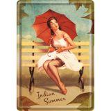 Blechpostkarte - Pin up Indian Summer
