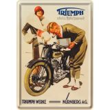 Blechpostkarte - Triumph Werke