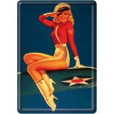Blechpostkarte - Pin up Airforce
