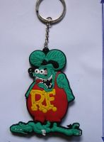 Schlüsselanhänger - Rat Fink 3D/Gummi