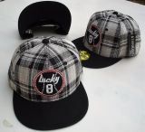 Snapback Cap - Lucky 8 / karo