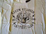 Loose-Shirt von Queen Kerosin - Cat Fight Club grau