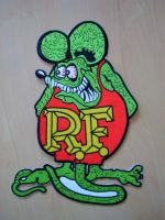 Rücken -Patch PTKR-Rat Fink