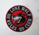 Patch - Lone Wolf * No Rules * No Club *