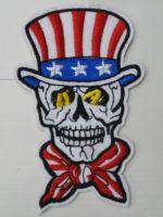 Patch - USA Skull