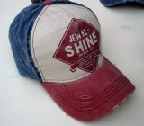 Vintage Trucker Cap - Jewel Shine - blue/red