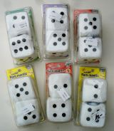 Fuzzy Dices - Withe with different scents