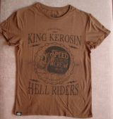 Watercolor-Shirt von King Kerosin / Speed Demons Crew- brown