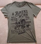 Watercolor-Shirt von King Kerosin / Biker`s Work - olive