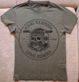 Watercolor-Shirt von King Kerosin / Lone Riders - olive