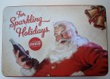 Steel Tin Boxes Flat - Coca Cola / Santa Claus - For Sparkling Holidays