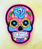 Patch - Tattoo Skull pink