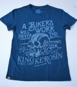 Watercolor-Shirt von King Kerosin / Biker`s Work - blau