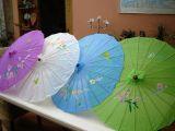 Bambus Sonnenschirm klein - Diverse Farben