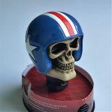 Schaltknauf - Biker Skull blauer Helm