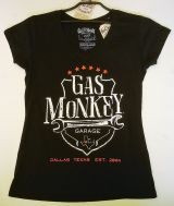 Gas Monkey Garage Frauen T-Shirt - Wrench Shield / schwarz