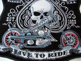 Rücken -Patch PTKR - Lucky 7 - Bike Skull Live to Ride