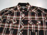 Karo Button Hemd - Blancko / schwarz