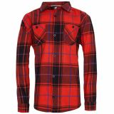 Checkered Button Shirt - Red / creme