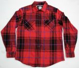 Karo Button Hemd - Rot / schwarz / blau