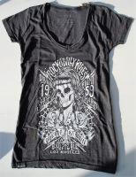 Queen Kerosin Batik Vintage Shirt / Rockabilly Rules - Anthrazit
