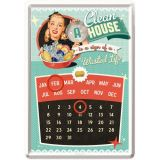 Kalender Blechpostkarte - A Clean House is a Sign of a Wasted Life