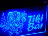 Led Leuchreklame - Tiki Bar / blau