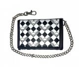 Rock Daddy Wallet with chain - Skull on Rhombus