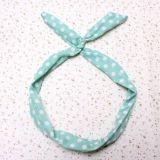 Fashion Headband /Haarband - Mint Grün mit weissen Punkten