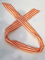 Fashion Headband /Haarband - Orange / weisse Streifen