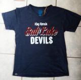 King Kerosin V-Neck T-Shirt Dunkelblau - Salt Lake Devils