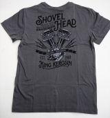 Vintage T-Shirt - Shovel Head / Steel Grey - Rückenprint