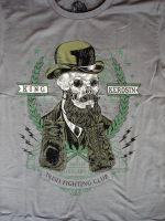 Vintage T-Shirt - Skull Gent / Steel grey