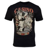 King Kerosin Regular T-Shirt / Casino 55 - black
