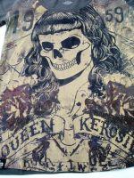 Queen Kerosin T-Shirt / Skull girl 59 - Oliv.
