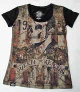 Queen Kerosin T-Shirt - Rock`n`Roll Skull / black