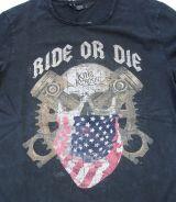 King Kerosin Vintage Longsleeve - Ride or Die / black