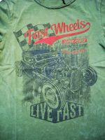 King Kerosin Vintage Longsleeve - Fast Wheels, Live Fast / green