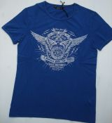 King Kerosin Vintage T-Shirt - Free Soul, 2 Wheels move the Soul / navy