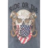 King Kerosin Vintage Longsleeve - Ride Or Die / Grey
