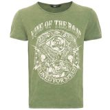 Vintage T-Shirt von King Kerosin - Motor / King of the Road - Grün