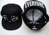 Snapback / Flat Cap from King Kerosin - Fuck / Everyone - black