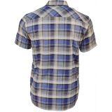 Karo Shirt von King Kerosin - Blau / Grau kariert